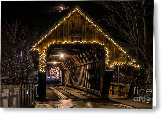 Woodstock Middle Bridge. Greeting Card by New England Photography