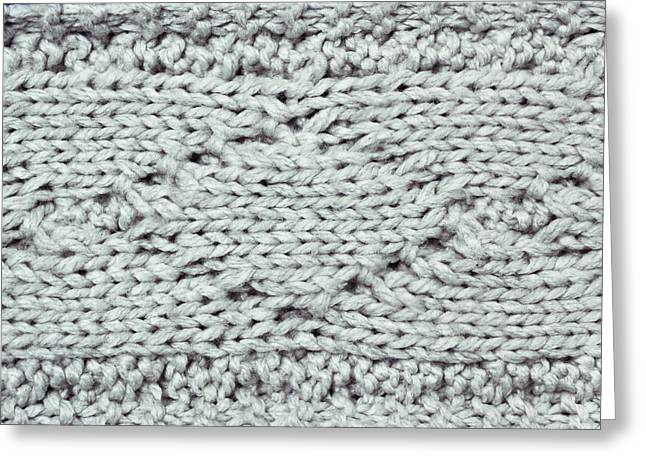 Woolen Greeting Cards - Wool background Greeting Card by Tom Gowanlock