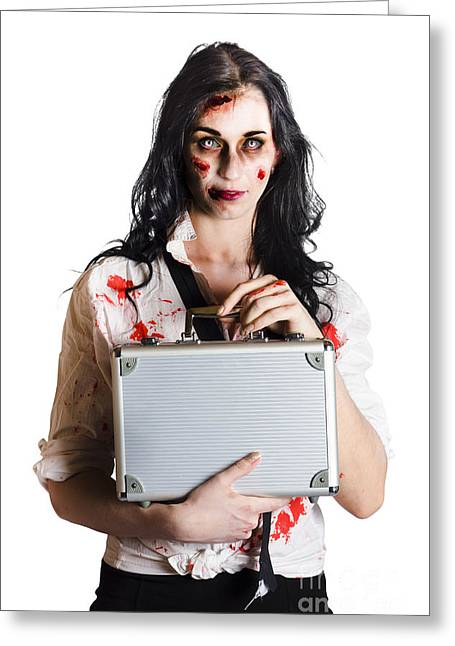 Workplace Bullying And Harassment Victim  Greeting Card by Jorgo Photography - Wall Art Gallery
