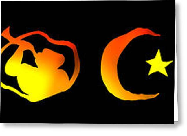 Religious Symbol Greeting Cards - World Religion Symbols Greeting Card by Daniel Hagerman