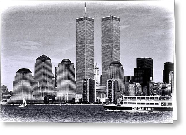 Wtc 11 Greeting Cards - World Trade Center 3 Greeting Card by Allen Beatty