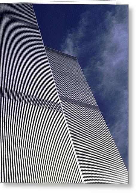 Terrorism Greeting Cards - World Trade Center 2 Greeting Card by Allen Beatty