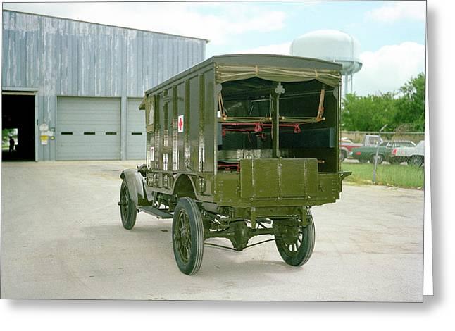 World War I Field Ambulance Greeting Card by Us Army