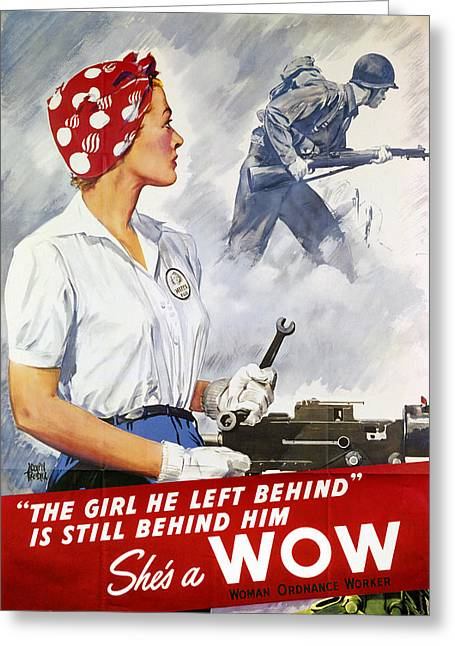 G.i. Greeting Cards - World War Ii Poster Greeting Card by Granger