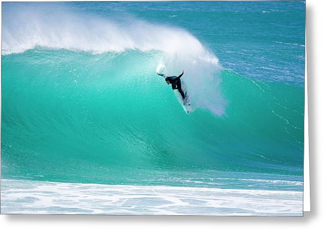 Big Wave Surfing Greeting Cards - Wounded Gull Greeting Card by Sean Davey