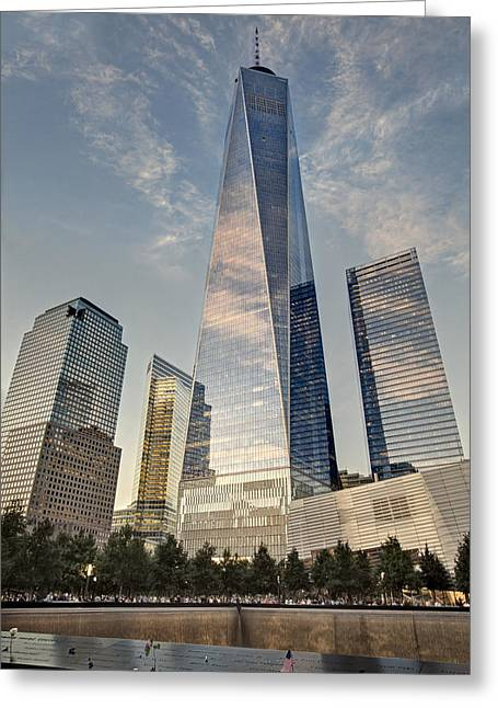 Wtc 911 Ground Zero Greeting Card by Susan Candelario