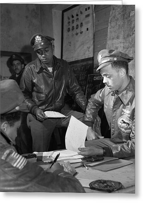 Edward Gleed Greeting Cards - Wwii: Tuskegee Airmen, 1945 Greeting Card by Granger