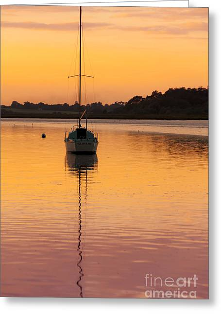 Flyer Greeting Cards - Yacht Greeting Card by Svetlana Sewell