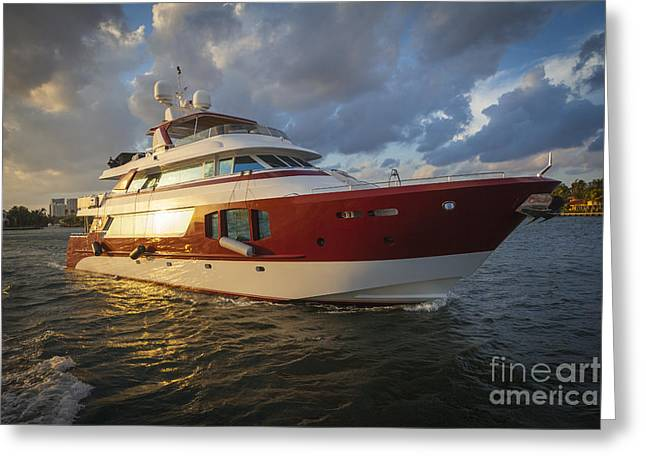 Gulf Coast States Greeting Cards - Yachting Greeting Card by Juan  Silva