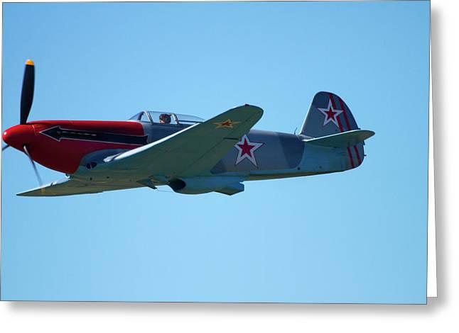 Yakovlev Yak-3 - Wwii Russian Fighter Greeting Card by David Wall