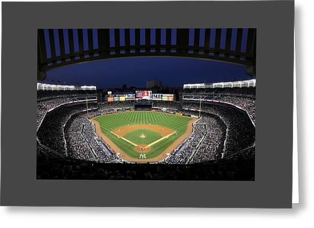 Yankee Stadium 2 Greeting Card by Allen Beatty