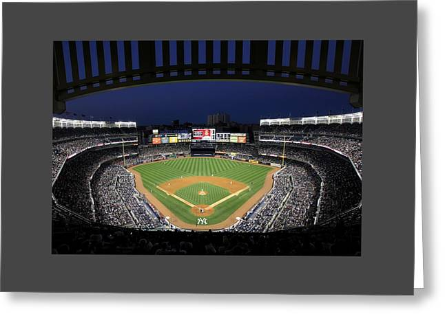 Old Pitcher Greeting Cards - Yankee Stadium 2 Greeting Card by Allen Beatty