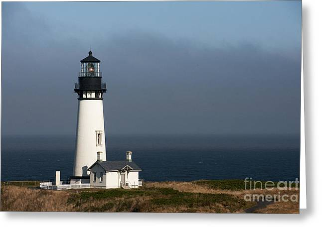 Ocean Photography Greeting Cards - Yaquina Head Lighthouse - Newport Greeting Card by Sandra Bronstein