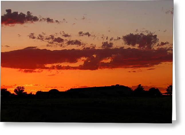 Prescott Greeting Cards - Yavapai Sunset Greeting Card by Aaron Burrows