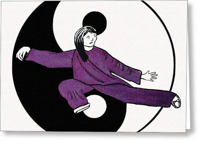 Ying Greeting Cards - Year Of The Snake Greeting Card by Barbara McMahon