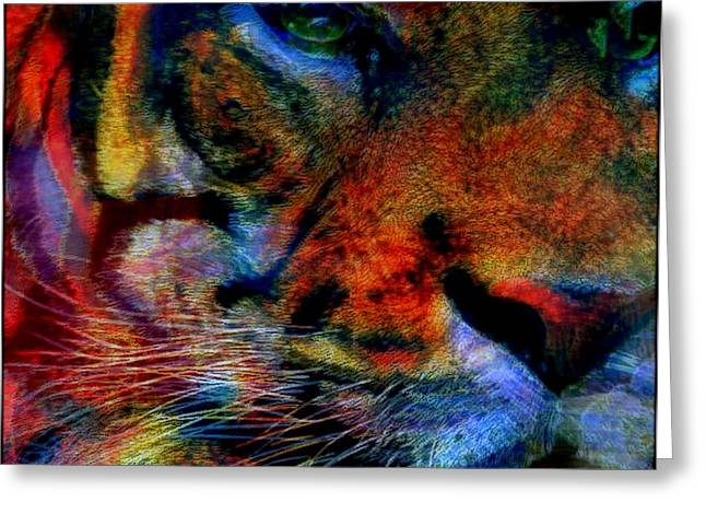 The Tiger Mixed Media Greeting Cards - Year Of The Tiger Greeting Card by Wendie Busig-Kohn