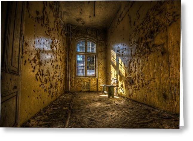 Defects Greeting Cards - Yellow room Greeting Card by Nathan Wright