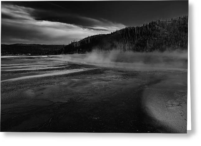 Mud Season Photographs Greeting Cards - Yellowstone Geyser Greeting Card by Mountain Dreams