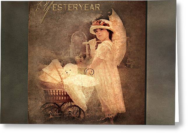 Toys Pyrography Greeting Cards - Yesteryear Greeting Card by Trudy Wilkerson
