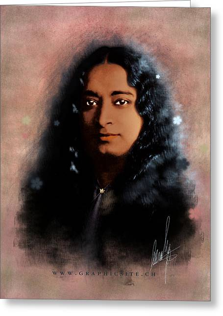 Recently Sold -  - Floral Digital Art Digital Art Greeting Cards - Yogananda Greeting Card by Graphicsite Luzern