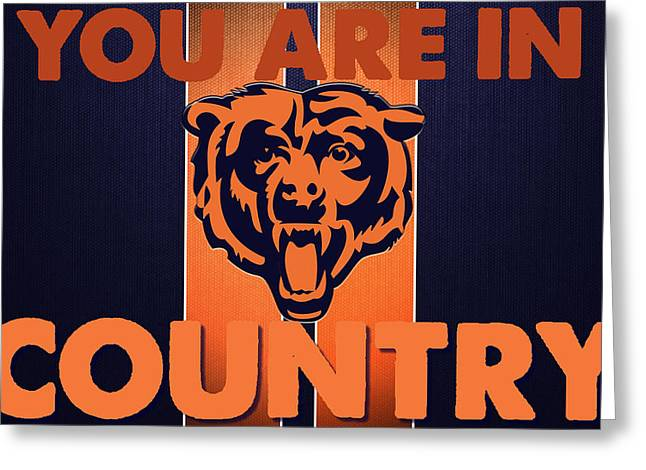 Championship Drawings Greeting Cards - You are in Bears Country Greeting Card by Celestial Images