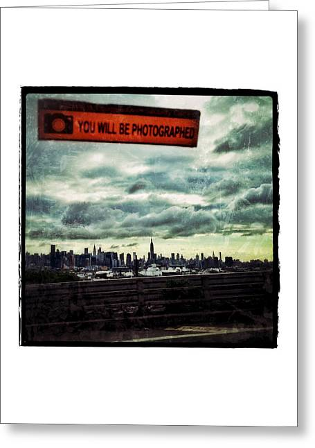 Times Square Digital Art Greeting Cards - You Will Be Photographed Greeting Card by Natasha Marco