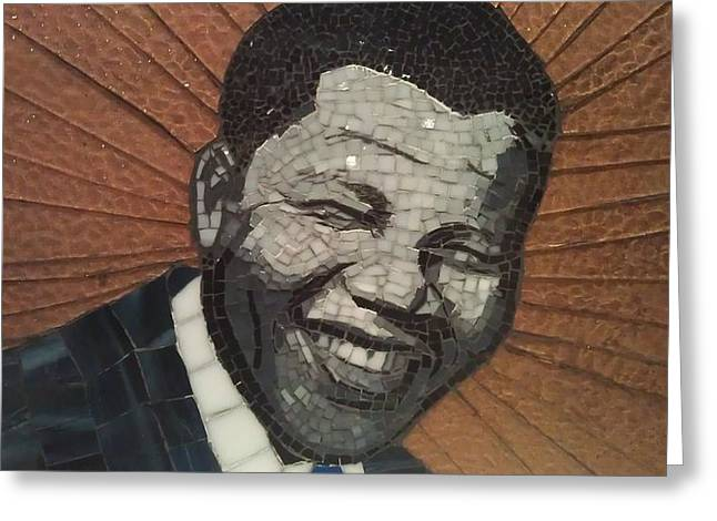 Portaits Mixed Media Greeting Cards - Young Nelson Greeting Card by Dalene Smit