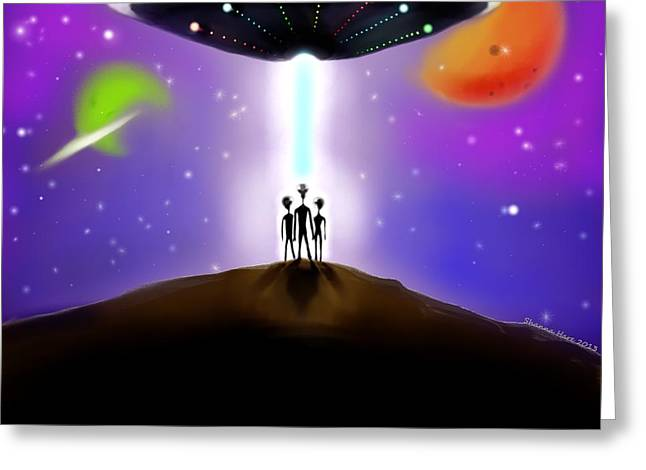 Abduction Digital Art Greeting Cards - Your Leader Greeting Card by Shanna Hare