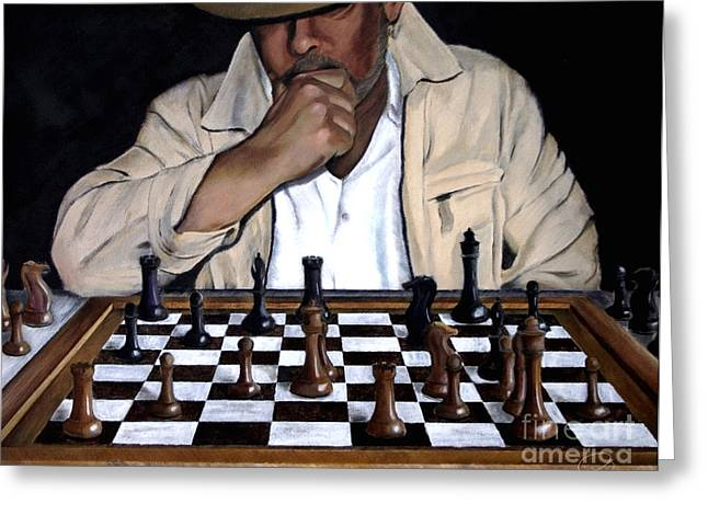 Chess Player Greeting Cards - Your Move Greeting Card by Andrew Wells