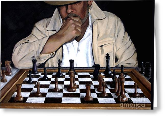 Chess Piece Paintings Greeting Cards - Your Move Greeting Card by Andrew Wells