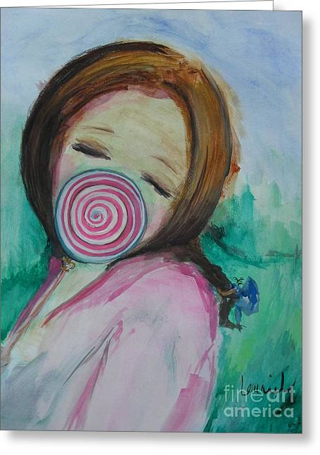 Laurie D Lundquist Paintings Greeting Cards - Youre Beautiful Greeting Card by Laurie D Lundquist