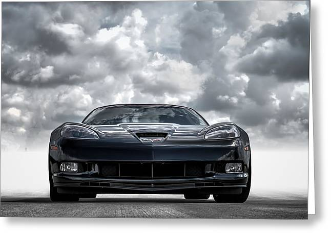 Black Greeting Cards - Z06 Greeting Card by Douglas Pittman