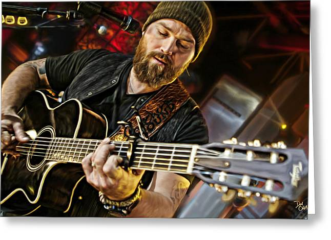 Live Music Greeting Cards - Zac Brown Greeting Card by Don Olea