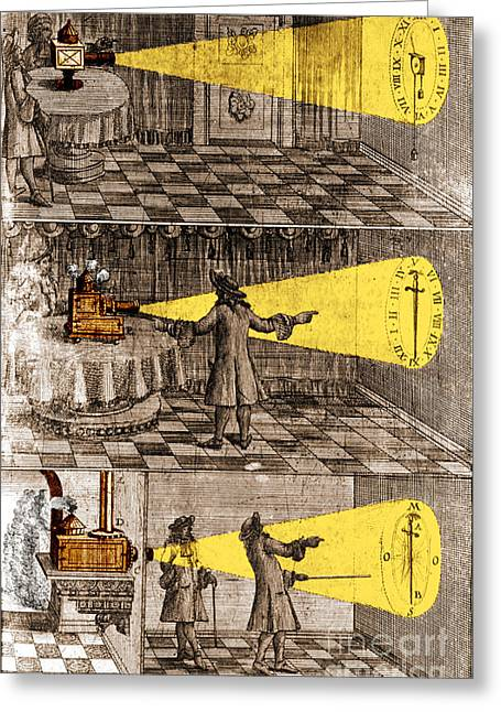 Oculus Greeting Cards - Zahn Light Projection Apparatus 1685 Greeting Card by Science Source