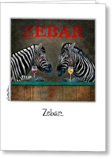 Zebra Greeting Cards Greeting Cards - Zebar... Greeting Card by Will Bullas