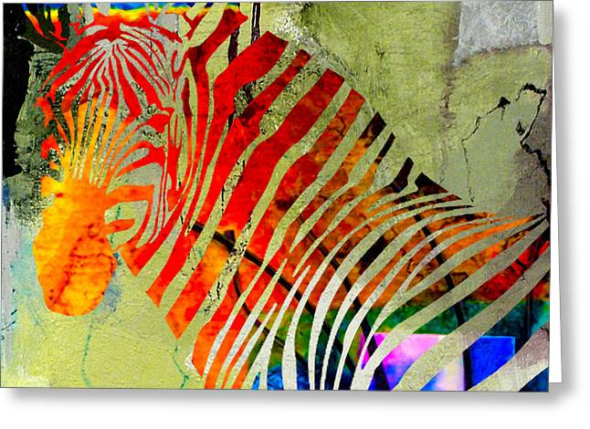 Zebras Greeting Cards - Zebra Greeting Card by Marvin Blaine