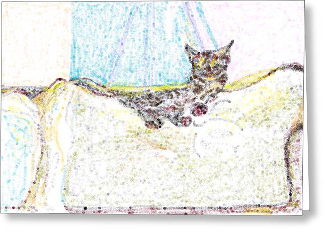 Blur Drawings Greeting Cards - Zelda Greeting Card by Anita Dale Livaditis