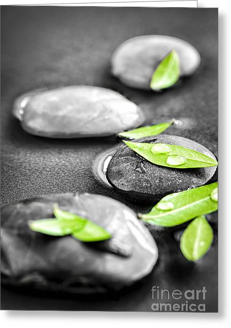Zen Stones Greeting Card by Elena Elisseeva