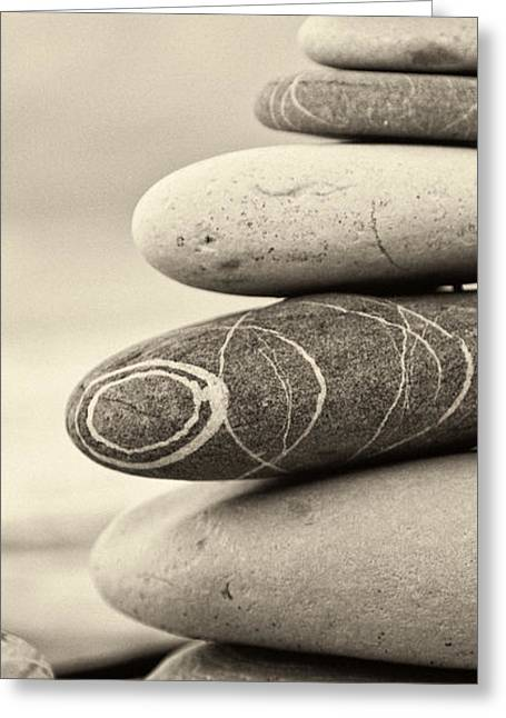Art Therapy Greeting Cards - Zen Greeting Card by Stylianos Kleanthous