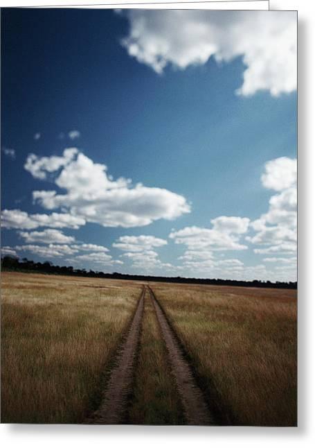 Zimbabwe, View Of Road Near Linkwasha Greeting Card by Stuart Westmorland