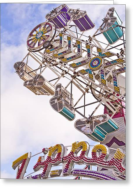 Carnival Ride Greeting Cards - Zipper Greeting Card by Caitlyn  Grasso