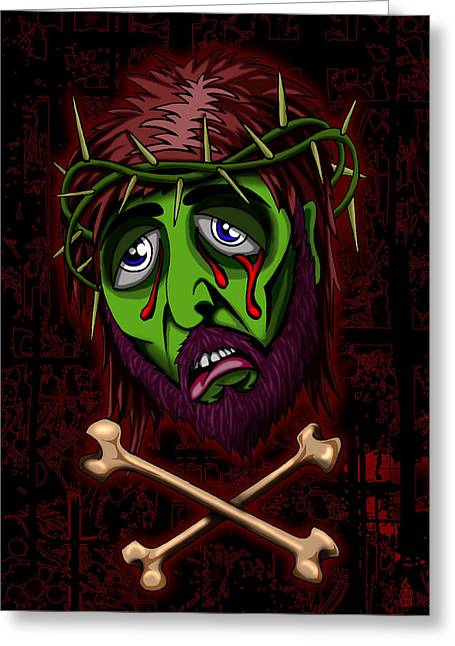 Steve Hartwell Greeting Cards - Zombie Superstar Greeting Card by Steve Hartwell
