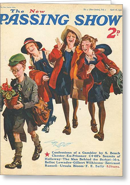 Bully Greeting Cards - 1930s,uk,the Passing Show,magazine Cover Greeting Card by The Advertising Archives