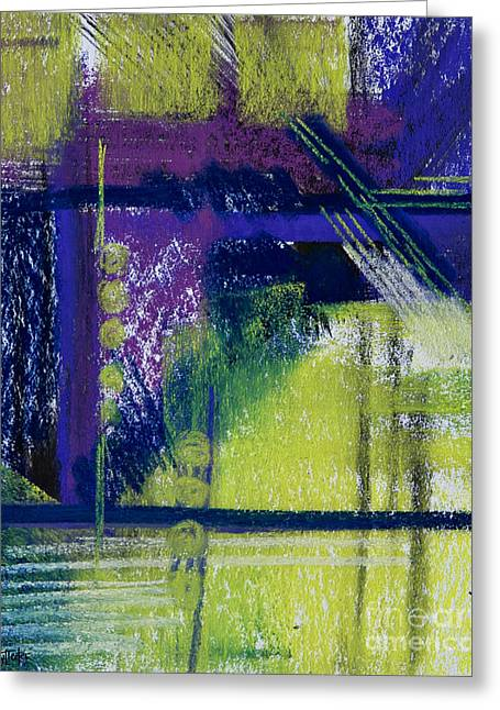 Contemporary Abstract Pastels Greeting Cards - No Winter Lasts Forever Greeting Card by Tracy L Teeter