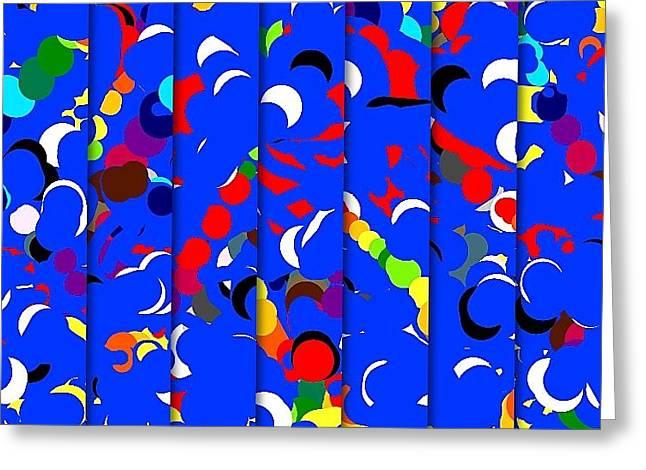 Abstract Greeting Card by HollyWood Creation By linda zanini
