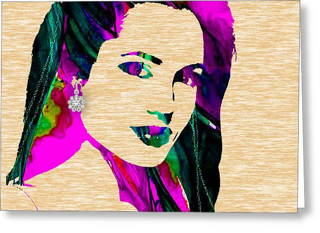 Man Cave Greeting Cards - Angelina Jolie Collection Greeting Card by Marvin Blaine