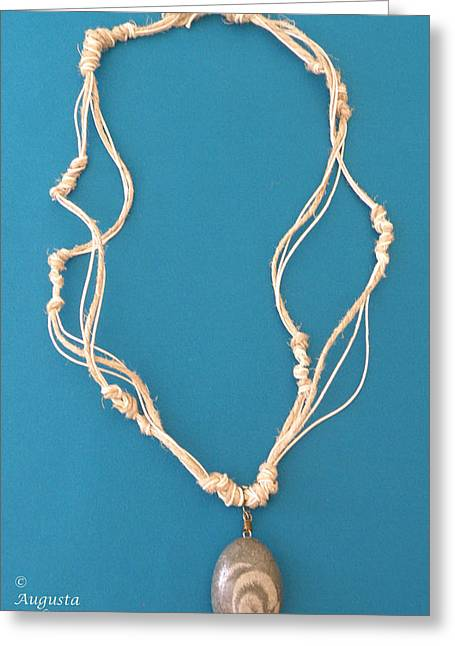 White Jewelry Greeting Cards - Aphrodite Urania Necklace Greeting Card by Augusta Stylianou