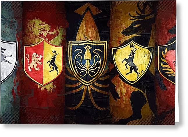 Game Digital Greeting Cards - Art Game Of Thrones Film Greeting Card by Victor Gladkiy