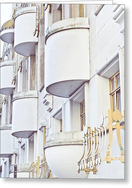 Office Space Greeting Cards - Balconies Greeting Card by Tom Gowanlock