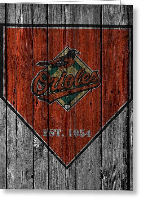 Orioles Greeting Cards - Baltimore Orioles Greeting Card by Joe Hamilton